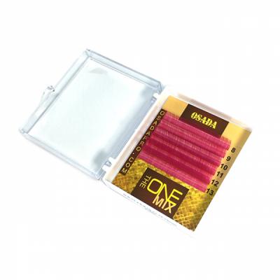 Ресницы «THE ONE mini-MIX Pink», изгиб: D