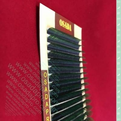 Ресницы «THE ONE MIX tone Green», изгиб: D